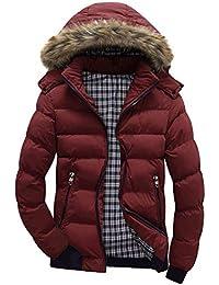 JiaMeng Casual cálido Abrigo de Invierno con Capucha con Cremallera Outwear Chaqueta Blusa de Viento Chaqueta de Esquí con Forro Polar