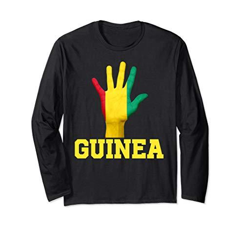 GUINEA Hand Up Flag Tshirt I Love GUINEA Travel Tee  Langarmshirt -