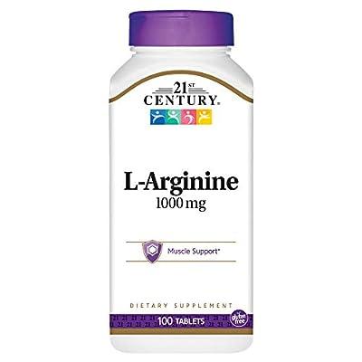21st Century Health Care, L-Arginine, Maximum Strength, 1000 mg, 100 Tablets