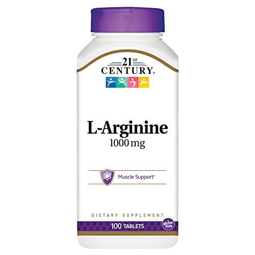 21st Century Health Care, L-Arginin, Maximum Strength, 1000 mg, 100 Tabletten -