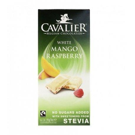 Cavalier - Belgian White Mango Raspberry Chocolate Bar - 85g