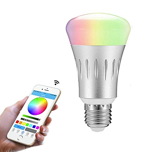 Smart LED Light Bulb, Night Light Bulbs, niceEshop 7W B22 Multicolored Wi-Fi Light Compatible with Amazon Alexa and Google Assistant, Cellphone Control