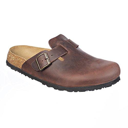 JOE N JOYCE Amsterdam Geöltes Leder Soft-Fußbett Clogs Habana Größe 43 Normal (Leder Joe)