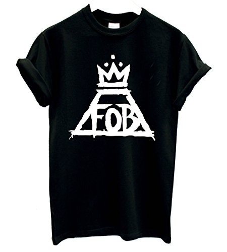 New Unisex Fall Out Boy T Shirt Top FOB Indie Rock N Roll Patrick Stump My Chemical Romance (L/Groß: 14-16, BLACK/Schwarz) Fall Out Boy-shirt