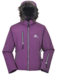 COX SWAIN women 3-layer outdoor softshell jacket MAROON - 15.000mm waterproof, 10.000mm breathable