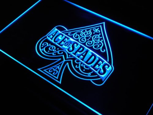 Enseigne Lumineuse s214-b Ace of spades casino poker New Neon Light Sign