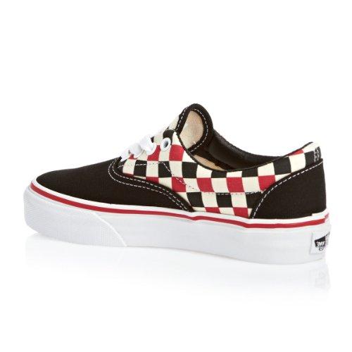 Vans K Era, Baskets mode garçon Checker Black Multi