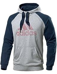 Adidas - Sudadera con capucha para hombre - gray Talla:small