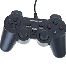 TECHNOPRO® Wired TwinShock Controller Joypad for Sony Playstation 2, PSOne, Playstation 1