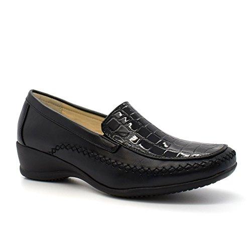 London Footwear , Sandales Compensées femme Noir - noir