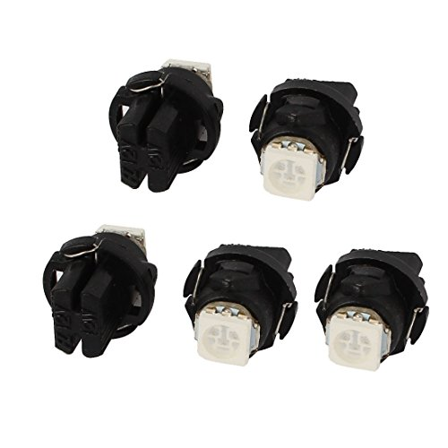 Sourcingmap® 5 pcs Vert T5 5050 SMD LED Voiture Dashborad Carte Filtre Coin Interne Lampe