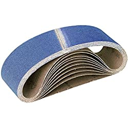 RETOL 10 bandes abrasives, 610 x 100 mm, G100, p. ponceuses à bande portatives, corindon de zirconium