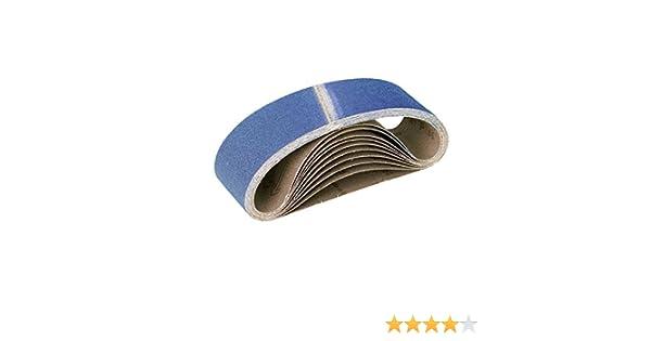 ponceuses /à bande G24 Lot de 10 p corindon de zirconium RETOL bandes abrasives 551 x 200 mm