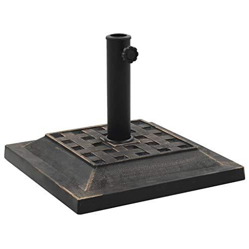 Decolla SonnenschirMäBase Square Polyresin 12 kg Bronze für Outdoor-Garten, Terrasse, Garten, Balkon (Dusche Square Mat)