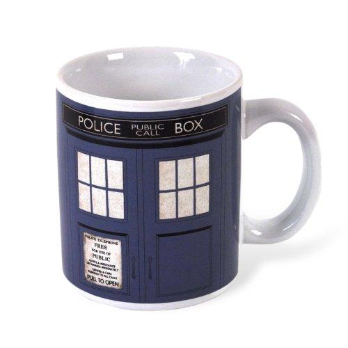 Doctor Who - Tardis Tasse 300 ml TV-Serie Keramik Fan Kaffeebecher Police Box (Schraubenschlüssel Tasse)