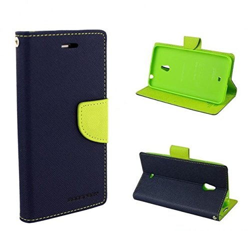 Annant Mercury Goospery Fancy Diairy Wallet Style Flip Cover Case For Samsung Galaxy S Duos S7562 / GT-S7562 (Blue)  available at amazon for Rs.220