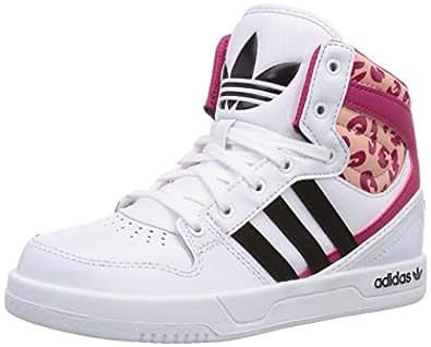 adidas Originals Court Attitude, Baskets Mixte Enfant - Blanc (Ftwr White/Core Black/Ftwr White), 34 EU