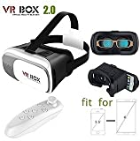 #10: JT VR BOX 2.0 Virtual Reality 3D Glasses, 3D VR Headsets With Bluetooth Remote for 4.7~6 Inch Screen Phones iphone 4S, iphone 5s, IPhone 6 / 6 S , Samsung LG Sony HTC, Nexus 6 etc.