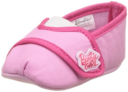 Barbie Baby Girl's Pink and Fuchsia Booties - (2 UK)