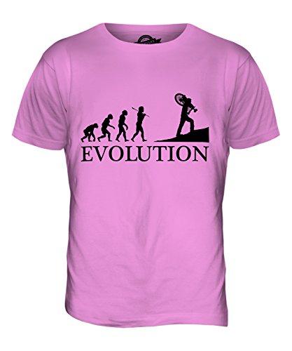 CandyMix Querfeldeinrennen Querfeldein Evolution Des Menschen Herren T Shirt Rosa