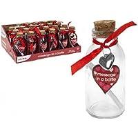 11cm mensaje en una botella con mensaje papel perfecto para San Valentín