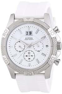 Guess - W17545G1 - Montre Homme - Quartz Chronographe - Bracelet Silicone Blanc