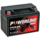 PTX9-BS Powerline Factory Sealed Motorcycle Battery 12V 9Ah