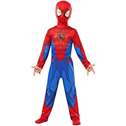 Rubie's 640840M SPIDERMAN Marvel - Disfraz infantil clásico de Spider-Man, talla M
