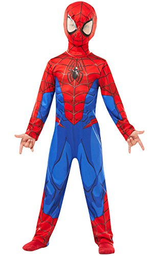 Rubie 's 640840 M Spiderman Marvel Spider-Man Classic Kind Kostüm, Jungen, Medium (Spider Man Kostüm Kind)