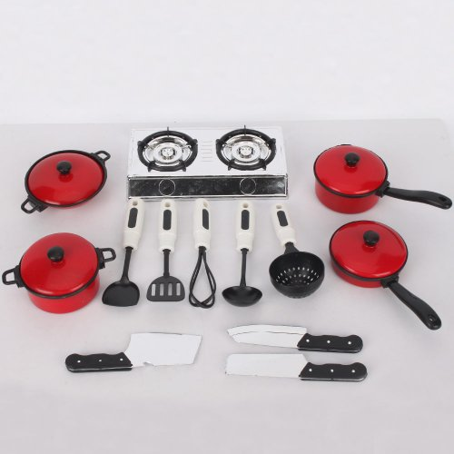 13 Sets Pots and Pans Kitchen Cookware For Children Play House Toys, Simulation Kitchen Utensils