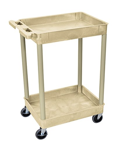 plutus-brands-two-level-serving-cart-375-h-x-24-w-x-18-d-inches-putty-lf00072