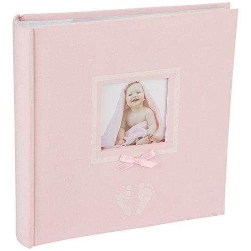 Levivo Baby Fotoalbum für 200 Fotos, Classic, Rosa (Baby Foto Album)