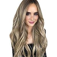 GNYD - Peluca de pelo largo y rizado sintético para mujer, elegante y con diferentes