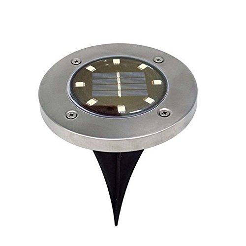 Yunhigh 8 lampes solaires au sol Interrupteur optique led encastrable terrasse solaire 1pcs