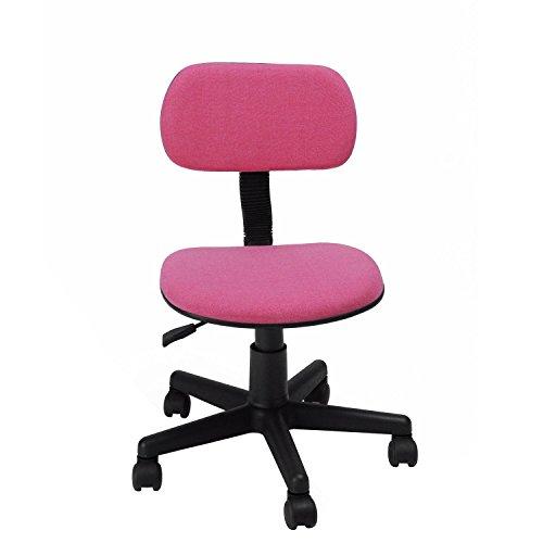GreenForest Kinder Schreibtischstuhl Mädchen Pink Drehstuhl ohne Armlehnen Rosa