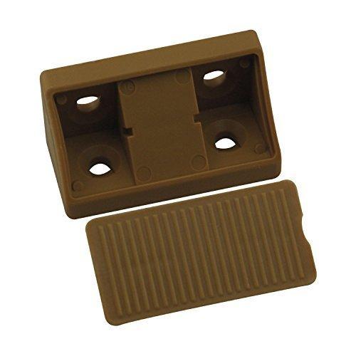 Preisvergleich Produktbild 10 Stück - GedoTec® Universal-Eckverbinder Korpusverbinder aus Kunststoff | Möbelverbinder zum Schrauben mit Abdeckkappe | Breite 44 mm | Markenqualität für Ihren Wohnbereich