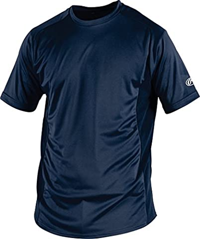 Rawlings Youth Crew Neck Jersey, X-Large, Navy