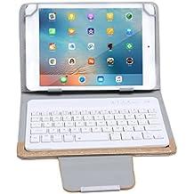 Funda con Teclado Inalambrico Bluetooth para tablet 7in / 8in, color oro