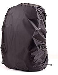 Cubierta Impermeable de Mochila Protector De Lluvia Ajustable para Aire Libre Camping 55-80L (Color Aleatorio)