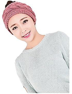 Win8Fong Warmer Maglia donna ampia fascia per capelli cappello sci paraorecchie paraorecchie Headwrap
