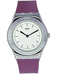 05f34370718 Swatch Womens Analogue Quartz Watch with Silicone Strap YLS204