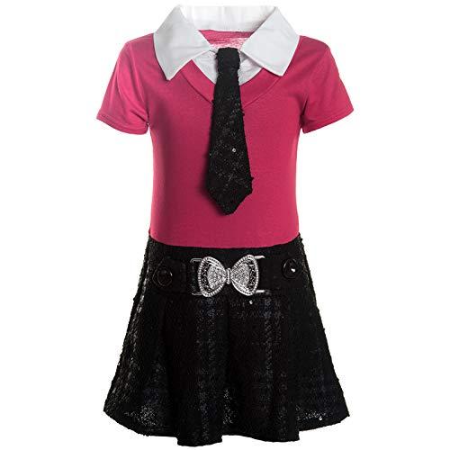 BEZLIT Mädchen Kleider Peticoat Festkleid Freizeit Sommer Kleid Kostüm 21436 Rosa Größe 152