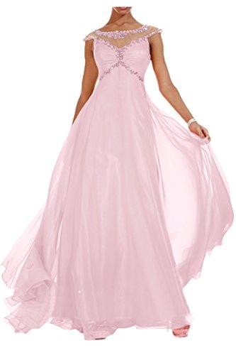 Royaldress Edel Orange Blau Pailletten Steine Abendkleider Partykleider  Abiballkleider Lang chiffon Rock Hell Rosa