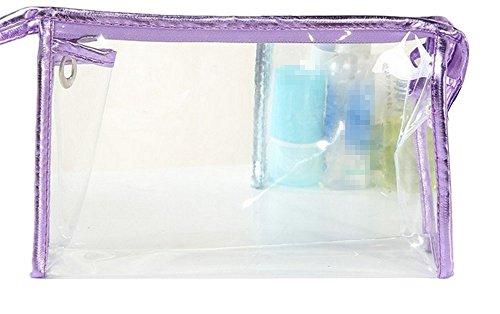 Westeng 1pcs Trousse de Maquillage Transparent Étanche Grande capacité Sac de voyage transparent pour les Femmes 8.85 * 5.51 * 2.75in