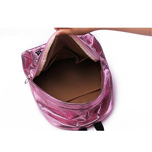 OURBAG Sacchetto di libro dello zaino del laser delle ragazze delle signore per il viaggio della scuola Rosso Medio Grgento