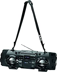 Aeg Sr 4360 Stereoradio-soundbox Cdmp3usb-portaux-in Mit Bluetooth Inkl. 7 Farben Discolicht, 2x50 W + 2x20 W Subwoofer