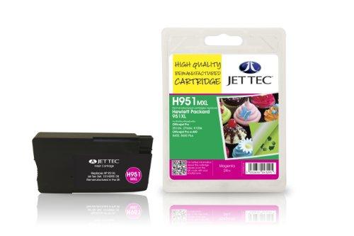 Preisvergleich Produktbild Jet Tec CN047AE HP HP951XL In England hergestellte Wiederaufbereitete Tintenpatrone, magenta High capacity