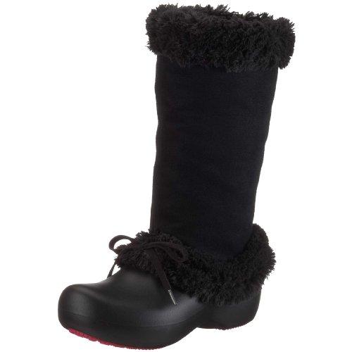 crocs Haley 10646, Damen Stiefel Schwarz (Black/Blackbzw.Blk/Blk)