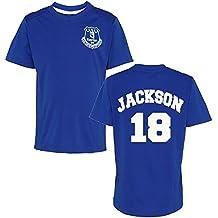 Producto oficial Everton FC personalizada nombre y número camiseta de los niños camiseta de manga corta