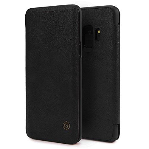 Urcover Galaxy S9 Hülle, Wallet Business Series mit [ KARTENFACH ] Bookstyle Case Cover Schutzhülle Etui Klapphülle Handyhülle für Samsung Galaxy S9 Schwarz (Klasse Card Wallet)